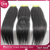 Peruvian Virgin Hair Yaki Kinky Straight Hair 3 pcs/lot, Top Quality 5a grade Unprocessed Peruvian Kinky Straight Hair