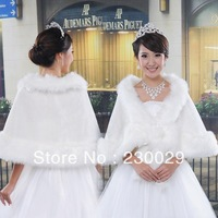 Free Shipping White Or Ivory Wools Wedding Brides Bolero Jacket Free Size Low Price BG059