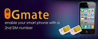 Gmate Enable  your smartphone features with a 2nd number for Iphone5c/5S
