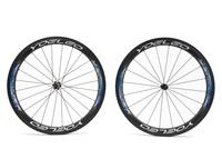1370g U Shape 25mm Wide Carbon Wheelset 50mm Tubular Road Bike Wheels + Ceramic Hubs + Sapim Cx- Ray Spokes + Straight Pull Hubs