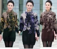2014 Fashion new women sweater dress winter long woman sweater plus size knit sweater tunic purple,green,brown S,M,L,XL,XXL,XXXL