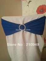 100pcs royal blue spandex band with Diamond Brooch