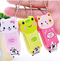 New Arrival Wholesale 50pcs/lot Cute Cartoon Animal Nail Clippers /Nail Trimmer Finger Scissors/Cutter  with Keychain n