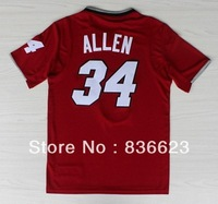 Wholesale - New Arrival  2014 Christmas #34 Ray Allen Men's basketball jersey Embroidery logos size: S-XXXL