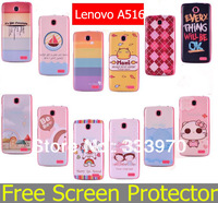NEWEST Fashion Printed Ultra thin Hard Back Cover Case for Lenovo A516 Case Fits Lenovo Cover + Free Screen Protector