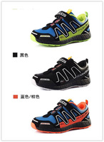 2014 New arrival Zapatillas Salomon Children's Shoes,Kids Athletic Shoes, Sports Running Shoes,Walking Shoes,3 Color Size:25-37