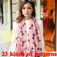 scarf women new 2014 fashion winter print scarves chiffon shawl long pashmina ladies foulard cape free shipping