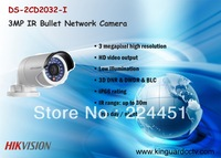 2013 Hikvison DS-2CD2032-I  3MP IR Bullet Network Camera with POE