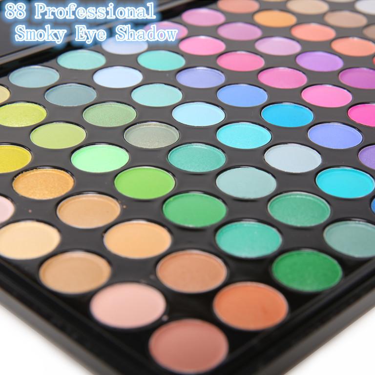Prix usine pro 88 multi couleur mate. pièces pro smoky eye shadow palette de maquillage professionnel kit 2013 nouvelle mode miroir à l'intérieur