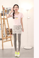 Wholesale free shipping Winter new Korean fake two pack hip was thin culottes lim stretch lace leggings L001