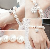 Sakura's Store B3256 fashion white pearl bracelet, all-match pearl ball bracelet female