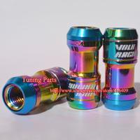 Newest 44mm Rainbow Formula Racing Lug Nut Car Wheel Nut
