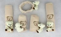Bear belt cover  MT AT brake cover car seat belt pillow child protection padding shoulder protection pillow 5pcs/set