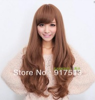 2014 Long curly wig girls fluffy matte temperature curly hair silk fashion lady wig
