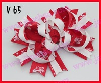 free shipping 2014 newest 30pcs Valentine's day hair bows-B Girl boutique bows Valentine hair clips heart ribbon hair clippie
