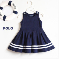 POLO 2014 children kids girls dress children's clothing vest dress baby girls clothes  10pieces/lot
