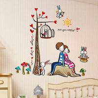 High quality 110cm*100cm Romantic wedding decoration wall stickers