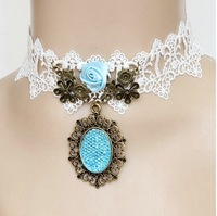 FREE SHIPPING Fashion lace necklace 2013 HANDMADE Lace chokers Vintage Elegant jewelry wholesale
