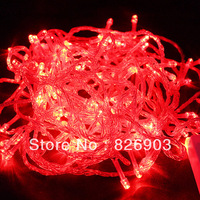 Free Shipping! Beautiful Red Available 20M 200-LED String Christmas Lights Fairy xmas tree outdoor Party Lights, Waterproof