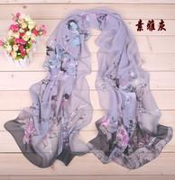 women brand scarf female models Winter Garden Floral scarves infinity silk scarf shawl