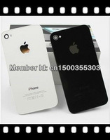 original Black white Glass Battery Cover Back replacement Housing for iPhone 4s 4Gs,Free shipping
