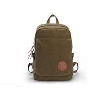 Itemship Hot new canvas shoulder bag computer bag backpack travel bag school bag Korean version of casual men (Coffee)