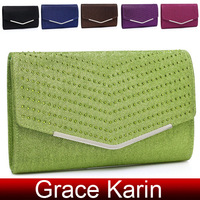 Free Shipping GK 6 Colors Women's Shining Wire Mesh Clutch Envelope Evening Bag Shoulder Bag GZ630