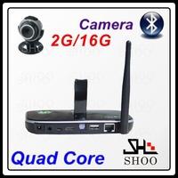 High-quality original CS918S Quad Core Smart TV Box Andriod 4.2 XBMC 2G/16G ROM Camera 5.0MP Bluetooth TV Stick + Remote Control
