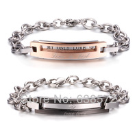 Japan and South Korea personalized custom can be lettering Couple Bracelet