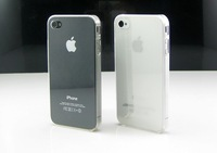 2Pcs/lot Best Clear Transparent Crystal Hard Case for iPhone 4/4S