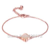 2013 Christmas Rose Gold clover Bracelet