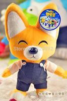 Free shipping Pororo plush toys,cute Fox Eddy 34cm soft toy,child toy