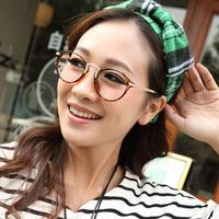 2014 Hot Sale New Arrival Freeshipping Vintage Decoration E137 Plain Mirror Ultra-light Glasses Women Metal Eyeglasses Frame