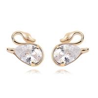 Korean Fashion 18K Gold  CZ Diamond  Accessories For Women  Flash Drilling Cubic Zircon Stud Earrings Designer Jewelry