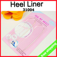 FREE SHIPPING Gel Heel Liner Shoe Cushion Insert Transparent Invisible Silicone Anti-friction Pads Lady Gift  80Pcs=40Pair 31004
