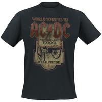 Free shipping Rigid heavy metal acdc cannon t-shirt