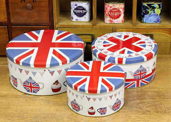 Union flag Union Jack Clarks originals Large Medium Small three sizes set Biscuit Candy Cookie Cake storage tin boxes(China (Mainland))