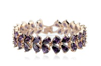 My Mona Lisa Lovely Purple CZ stones Cluster Bracelets  Fashion infinity bracelets for women JS117