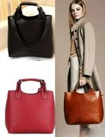 Free shipping Women Ladies retro Celebrity Tote Bag Pu leather Handbags Adjustable Handle Brand Casual Satchel Bag Shopping bag