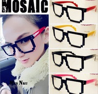 2014 New Korean mosaic glasses frames for women men fashion sunglasses without glasses  ladies' eyewear accessories ,YJ5007