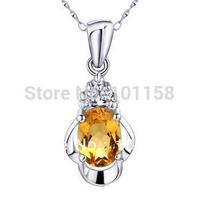 Wholesale Korean Fashionsterling silver 925  jewelry, citrine necklace pendants, SP0158C