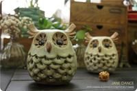 zakka owl hollow ceramic glazes Home Decoration temperature variations small ceramic owl candlestick aromatherapy Small One
