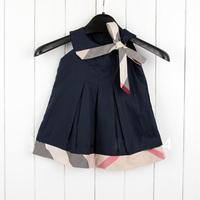 Free shipping Baby girl dresses 2013 kids plaid summer dress baby girls dress princess baby dress sleeveless Retail #628