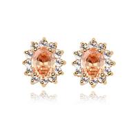 2014 Fashion  Bijouterie  Cubic Zircon Stud Earrings 18K Gold Plated CZ Diamond  Punk Accessories Jewelry  For Women