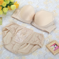 New 2014 Fashion Women Seamless One-Piece Push Up Bra B Cup VS Underwear Bra Set Free Shipping