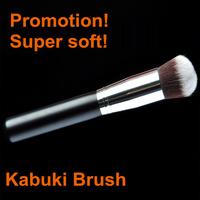 Hot Sale! New Synthetic Round Professional Kabuki Brush Black Single Cosmetics Make Up Brush Powder Blusher Makeup Brushes Tools