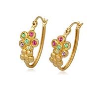 18K Gold Plated Rhinestone Stud Earrings For Women New 2014 Women Jewelry