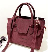 free shipping 2014 women's fashion handbag scrub velvet smiley bag one shoulder cross-body handbag