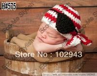 Free shipping  Pirate Kerchief Beanie Crochet Hat ,cute baby hat handmade crochet photography props newborn baby cap