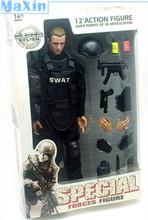 """Multi 12"""" 1/6 SWAT Black Uniform Acti"""